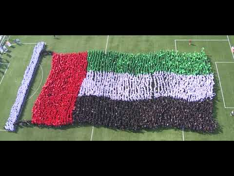 GEMS Education sets yet another Guinness World Record: Largest Image of a Human Waving Flag!