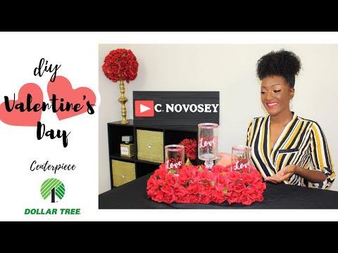 How to make a  Valentine's day Centerpiece 💖🌹 DIY Dollar Tree Crafts