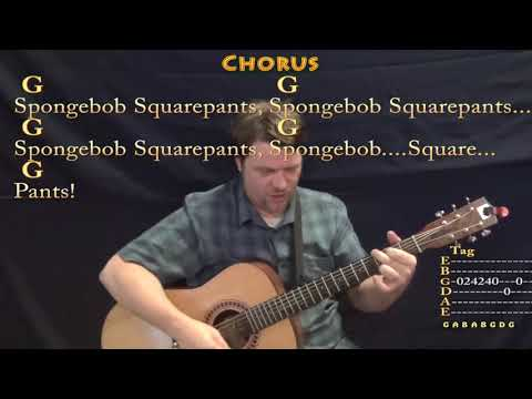 Spongebob Squarepants (TV Theme) Guitar Cover Lesson with Chords/Lyrics