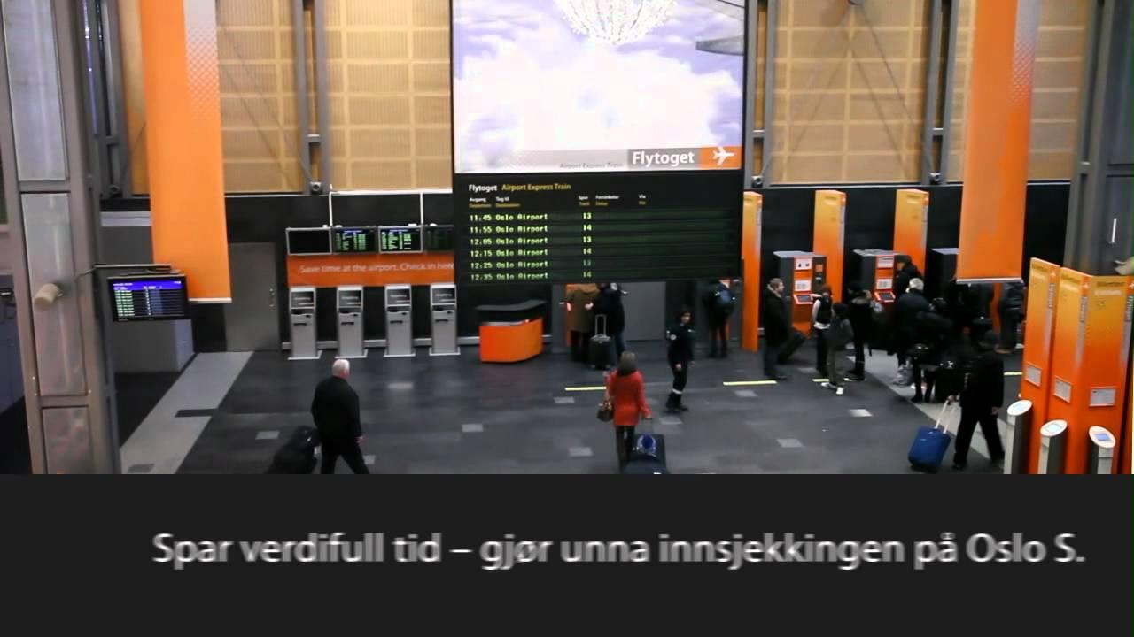 Innsjekkingsautomater P 229 Oslo S Flytoget Youtube
