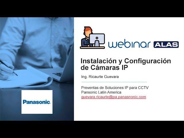 Instalación y configuración de cámaras IP