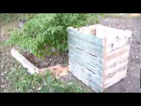 Potato Bin Out Of Wood Pallets Youtube