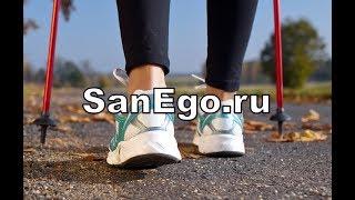 Техника скандинавской ходьбы (SanEgo.ru) - видеоинструкция.