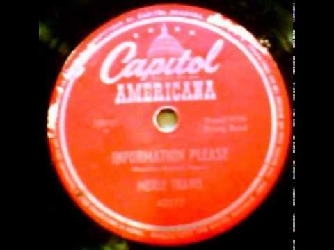 """Information Please"" - Merle Travis (1947 Capitol Americana)"