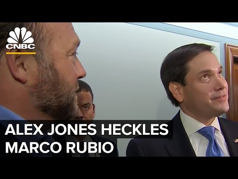 Alex Jones Heckles Marco Rubio During Interview