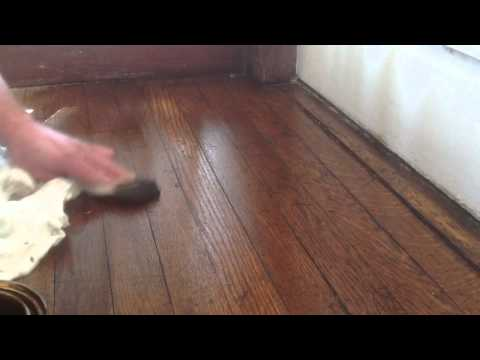 Blending Oak Wood Floors Without Sanding With Stain Youtube