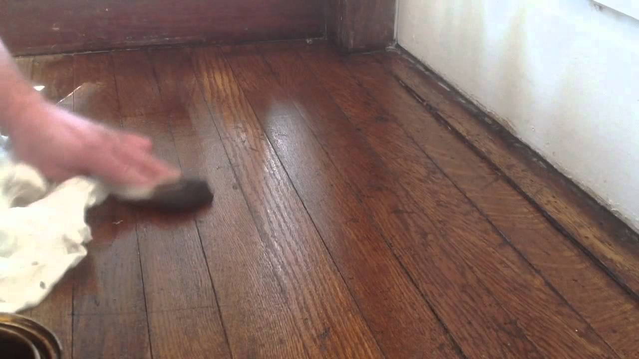 Blending Oak Wood Floors Without Sanding With Stain You
