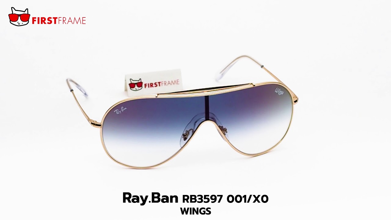 cd44e14c0d RayBan RB3597 001 X0 WINGS - YouTube