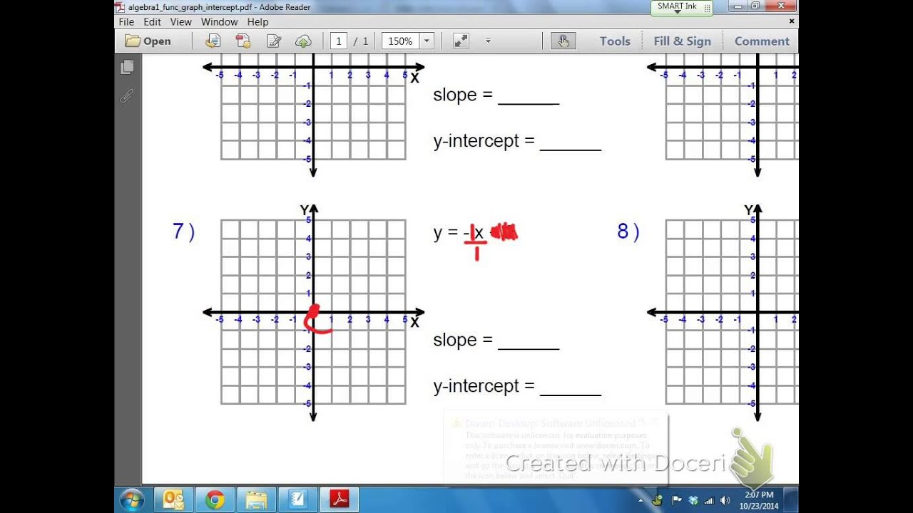 Common Core Math Graphing Linear Equations With An