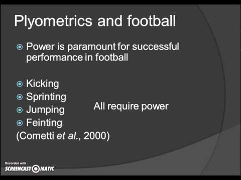 Plyometric training for football
