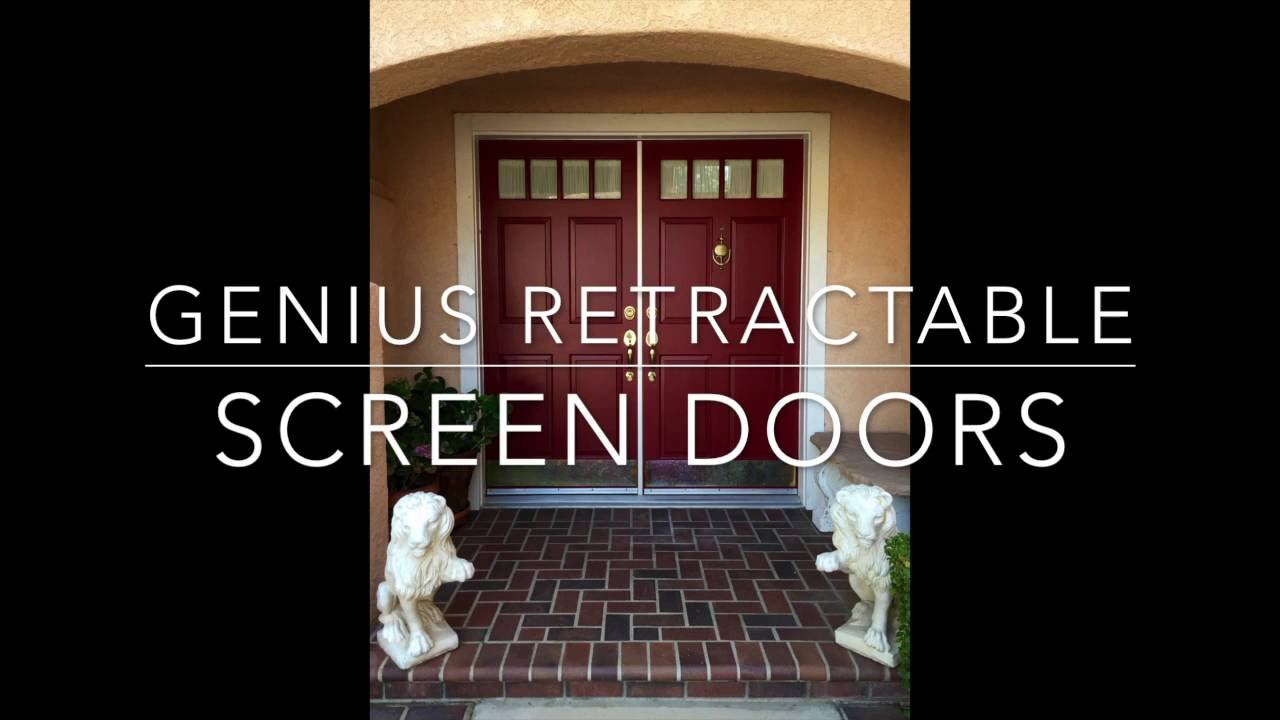 Genius Retractable Screen Doors
