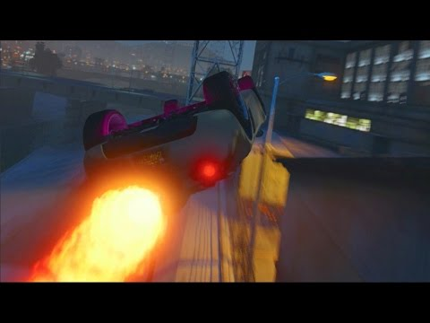 GTA 5 Online TWO Jet Cars + STUNTS = Funny Moments