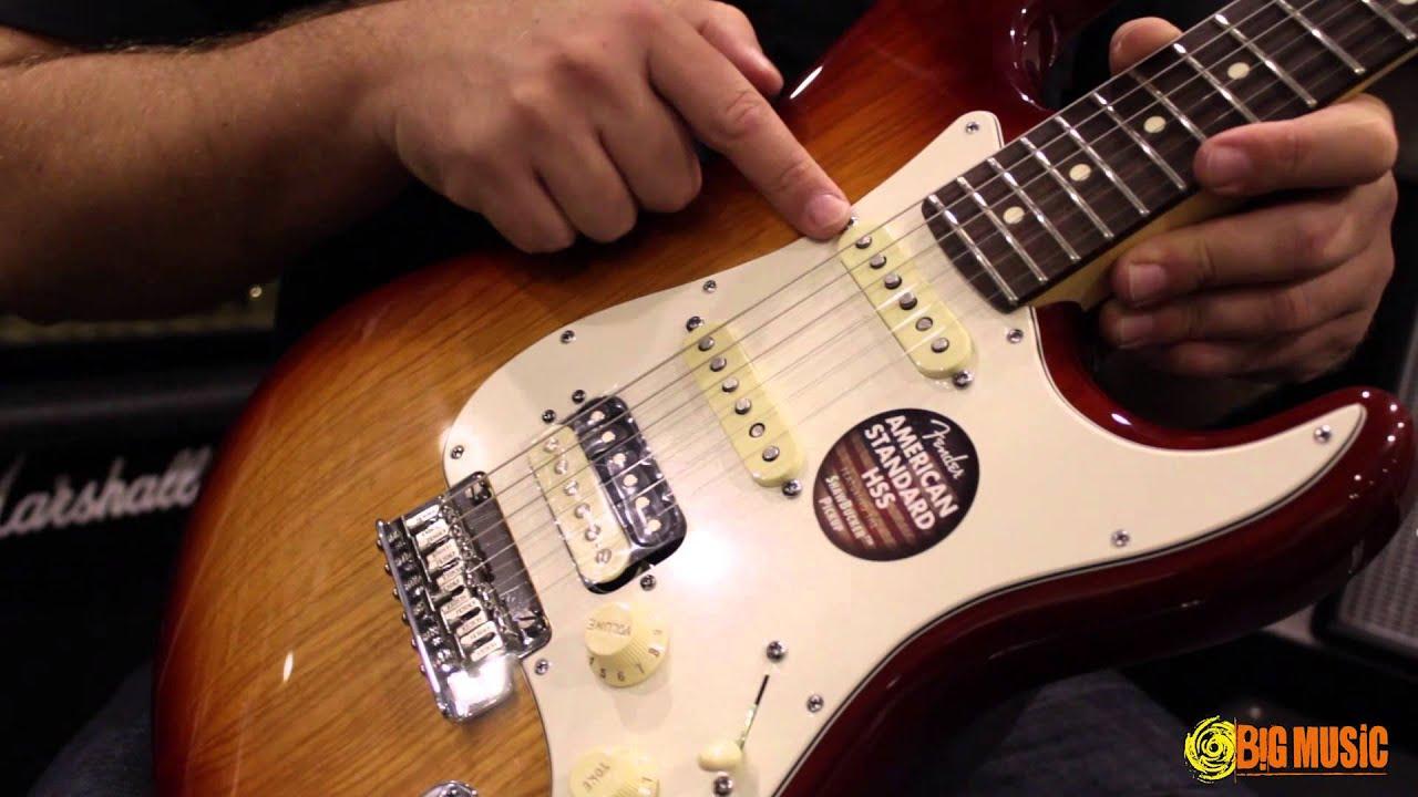 Fender American Standard Shawbucker Hss Strat Product Demo Youtube Wiring