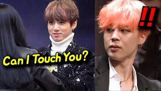 How Jimin Reacts when a Fan Touches Jungkook's Chest?