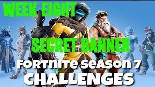 Fortnite Battle Royale | Season 7 Week 8 Challenge | Snowfall Secret Banner Location Guide