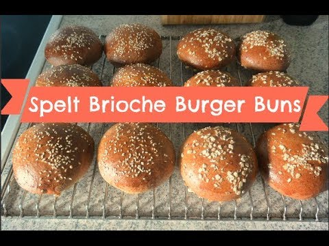 Homemade Spelt Brioche Burger Buns