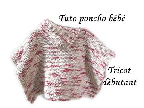 les tutos de fadinou tuto poncho bebe tricot special debutante. Black Bedroom Furniture Sets. Home Design Ideas