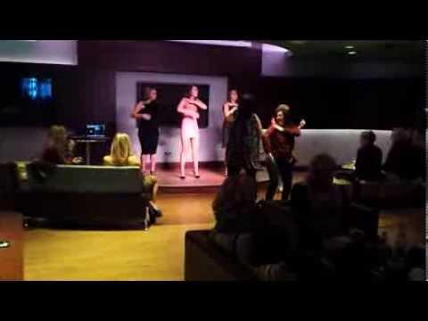 Girls do The Loco-motion. Kylie Minogue tribute, Grosvenor Casino, Sheffield