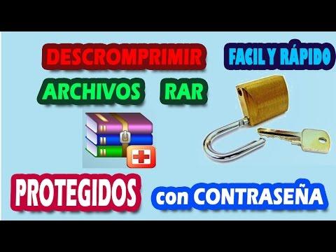 DESCOMPRIMIR ARCHIVOS WINRAR PROTEGIDOS CON CONTRASEÑA