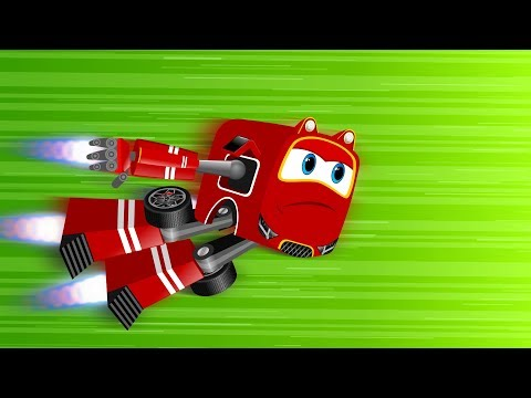 Red Supercar Baby Rikki vs Angry Dragonfly | Kids Car Cartoon Rhymes