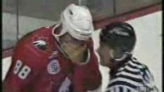 1996 World Cup of Hockey Fight Kasparaitis vs Lindros FULL
