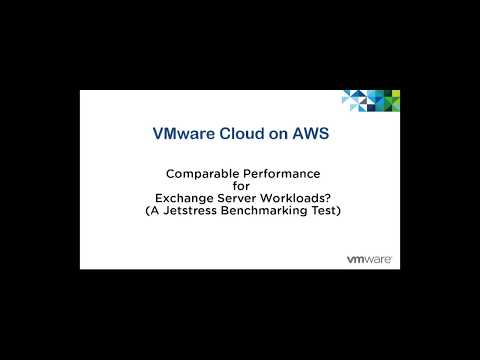 Exchange Server Workload Jetstress Performance Test Demo   VSphere