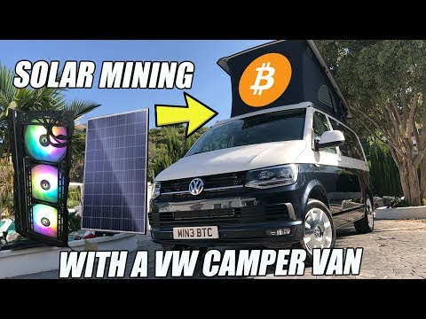 BITCOIN VANLIFE - I converted my VW T6 California in to a mobile solar bitcoin mine!