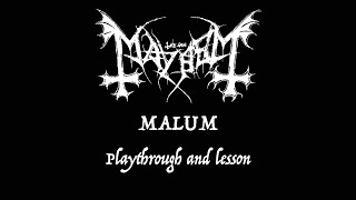 Mayhem - Malum Guitar Playthrough and Lesson