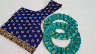 Model blouse dori back neck design cutting and stitching/blouse ki design