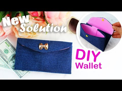 BEST WAY TO MAKE DIY WALLET FAST AND EASY Jeans Wallet Idea