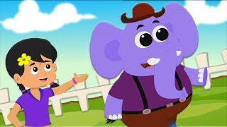 Hathi Raja Kahan Chale | Hindi Rhyme For Children | हाथी राजा कहाँ चले | Hindi Kids Rhymes