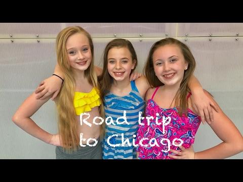 Princess Ella and friends road trip to mermaid school in Chicago. Vlog 22