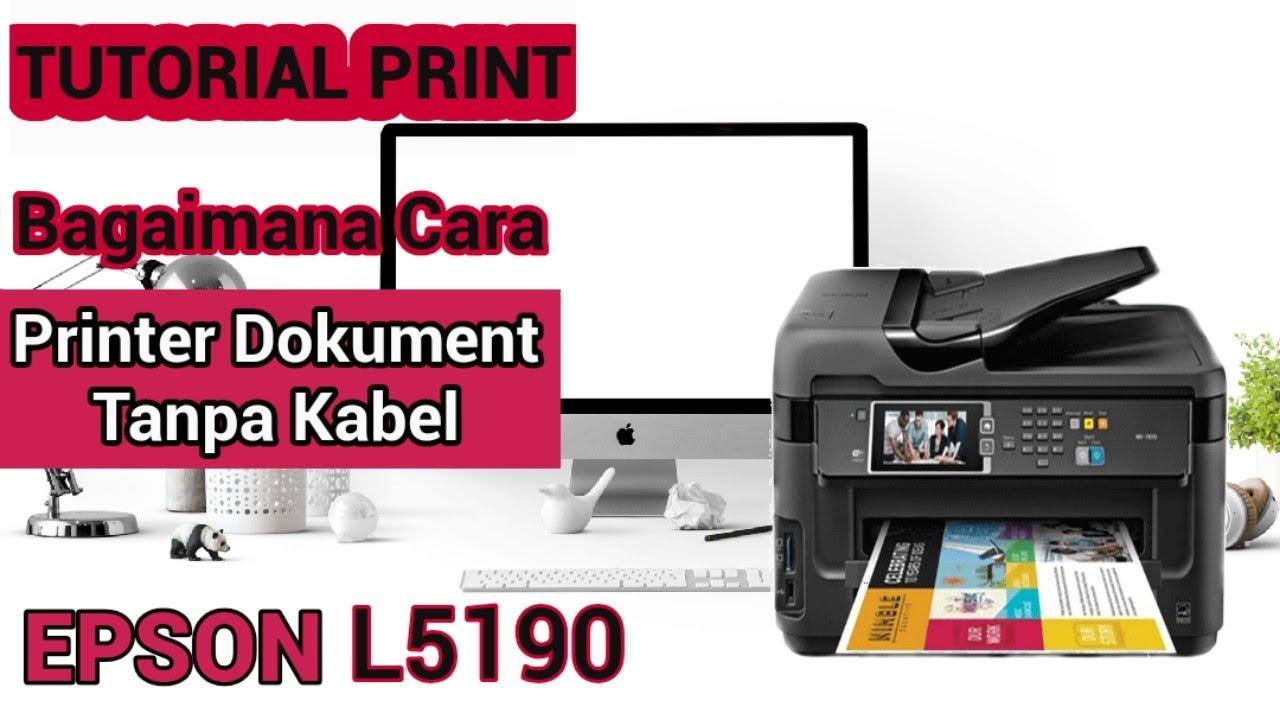 Cara Mengkoneksikan Printer Epson L5190 ke Komputer ...