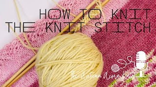 How to Knit Lesson Five The Knit Stitch