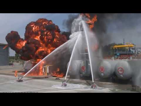 Explosion-Proof Fire Fighting Robot Field Test-  September 2016