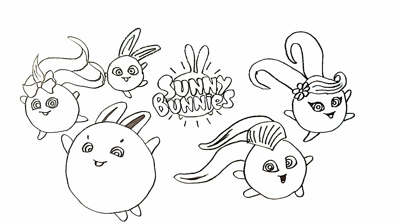 Drawing Sunny Bunnies Coloring