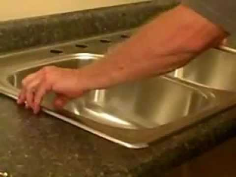 replace a kitchen sink how to install a kitchen sink youtube - Fitting Kitchen Sink