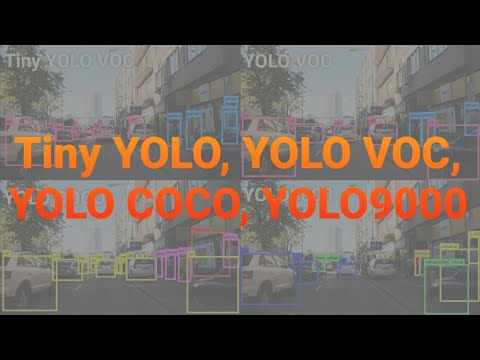 8K 4x YOLO (Tiny YOLO, VOC, COCO, YOLO9000) Object Detection #2