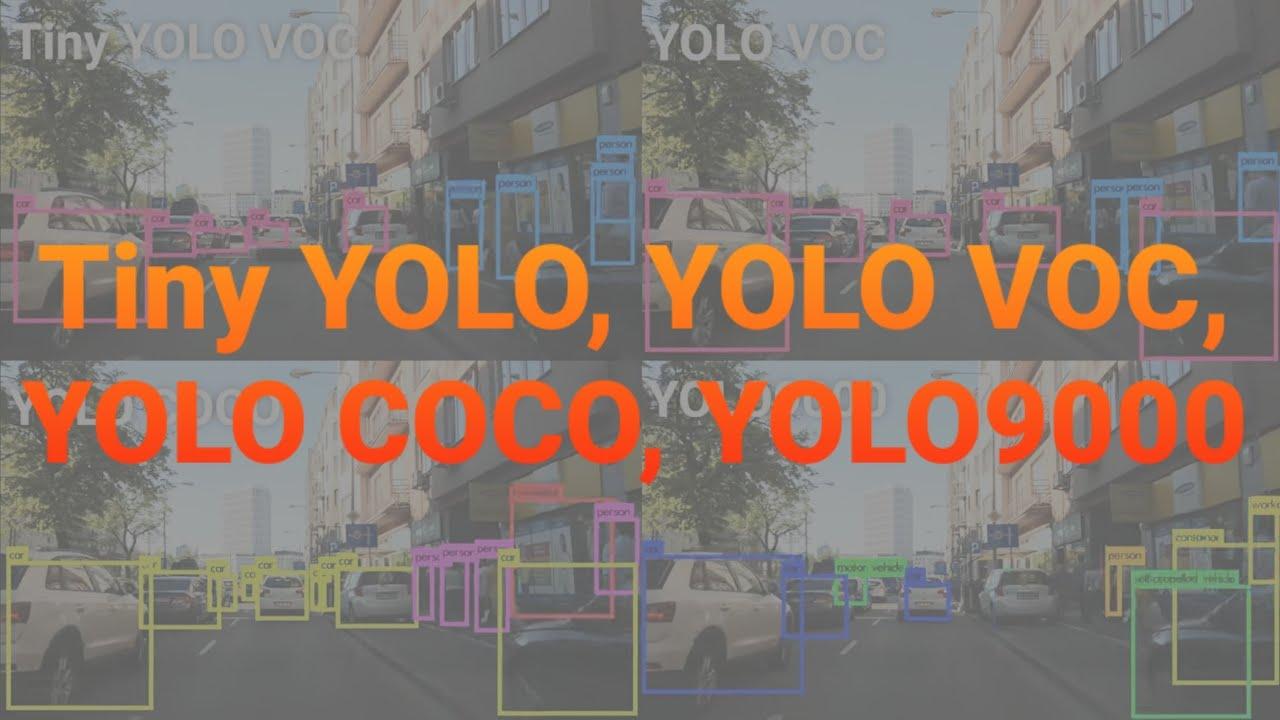8K 4x YOLO (Tiny YOLO, VOC, COCO, YOLO9000) Object Detection #2