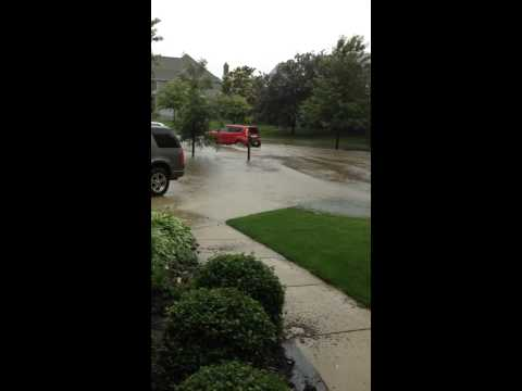 6/15/15 Batavia, IL neighborhood street flooding