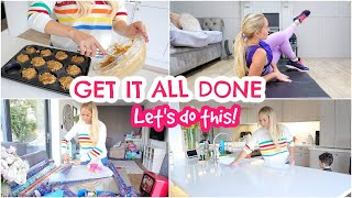 GET IT ALL DONE WITH ME - CLEANING, WORKOUT, HAIR CARE, MEAL PREP & GIFT WRAPPING | Emily Norris AD