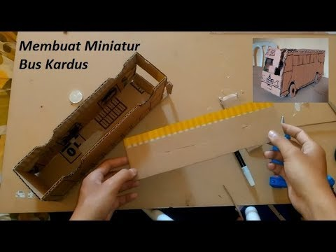 Membuat Miniatur Bus Bumel Dari kardus  ba2c8f6813