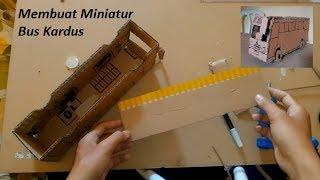 Cara Membuat Miniatur Bus Dari kardus | Ide Kreatif