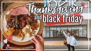 THANKSGIVING DAY & BLACK FRIDAY SHOPPING 2018 | DAY IN THE LIFE - HOLIDAY EDITION | Page Danielle
