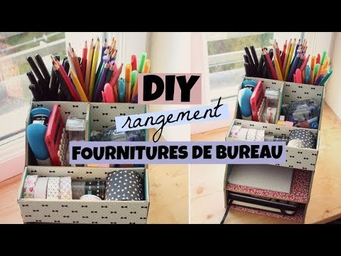 diy organisation rangement bureau youtube. Black Bedroom Furniture Sets. Home Design Ideas