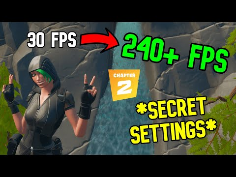 BOOST Fortnite FPS In 3 Minutes! SECRET SETTINGS! (Chapter 2)