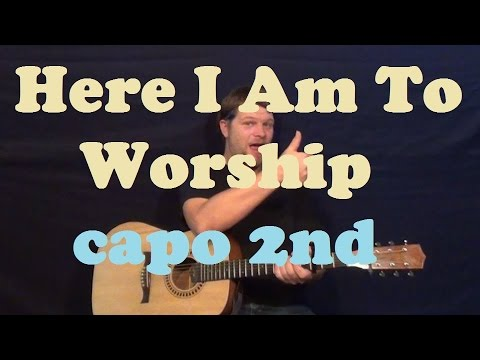 Here I Am To Worship (Chris Tomlin) Guitar Lesson Easy Strum How to ...