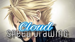 Final Fantasy VII: Cloud Strife Speed Drawing