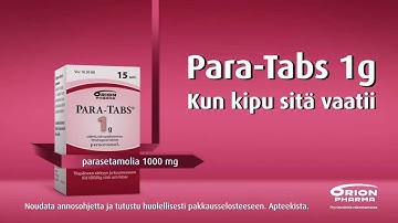 Para-Tabs, TV-commercial