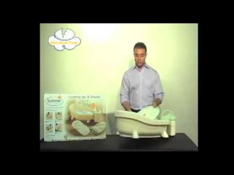cadita bebe summer infant soothing baby spa shower bathtub youtube. Black Bedroom Furniture Sets. Home Design Ideas